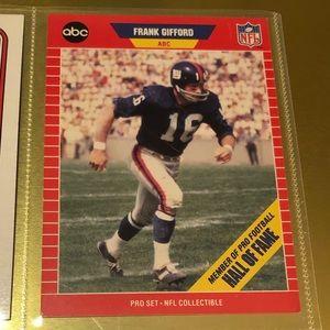 NFL 1989 PRO SET FRANK GIFFORD CARD #2 HOF